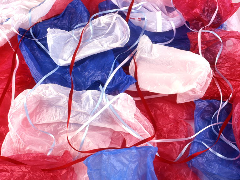 photo of colored plastic bags